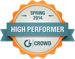 G2 Crowd Spring 2014 High Performer Award